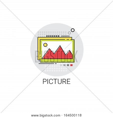 Picture Art Painting Hanging Wall Decoration Icon Vector Illustration