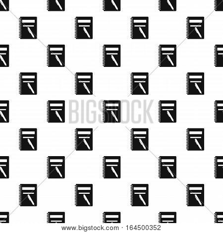 Notebook with pen pattern. Simple illustration of notebook with pen vector pattern for web