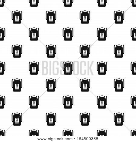 School backpack pattern. Simple illustration of school backpack vector pattern for web