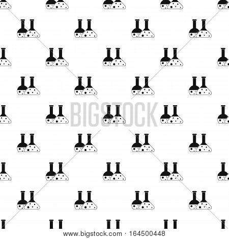 Laboratory flasks pattern. Simple illustration of laboratory flasks vector pattern for web