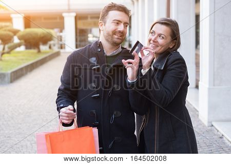 Couple In Shopping Time