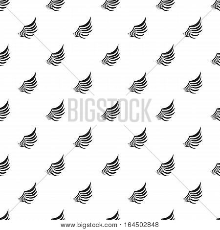 Birds wing with feathers pattern. Simple illustration of birds wing with feathers vector pattern for web