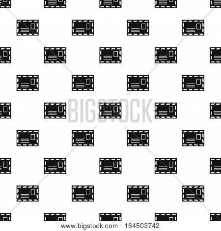 Envelope with stamp pattern. Simple illustration of envelope with stamp vector pattern for web