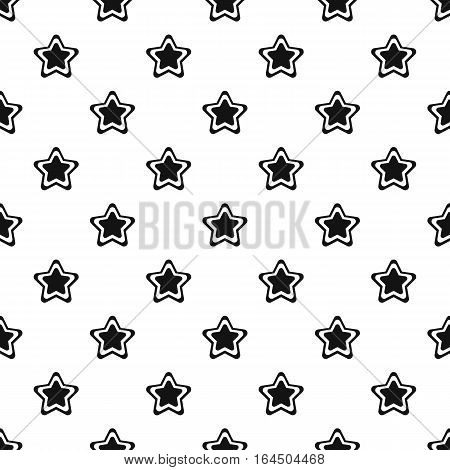 Geometrical figure of five pointed star pattern. Simple illustration of geometrical figure of five pointed star vector pattern for web