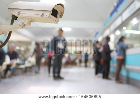 CCTV camera digital video recorder in hospital for Security of place.