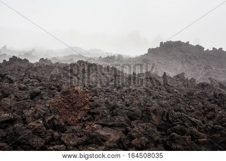 landscape at the volcano Etna Sicily - Italy