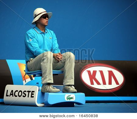 MELBOURNE, AUSTRALIA - JANUARY 22: Linesman at the 2010 Australian Open on January 22, 2010 in Melbourne, Australia