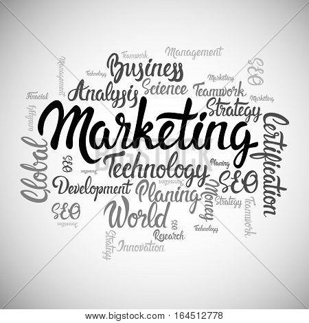 Marketing Strategy Development Business Brainstorming Infographic Vector Illustration