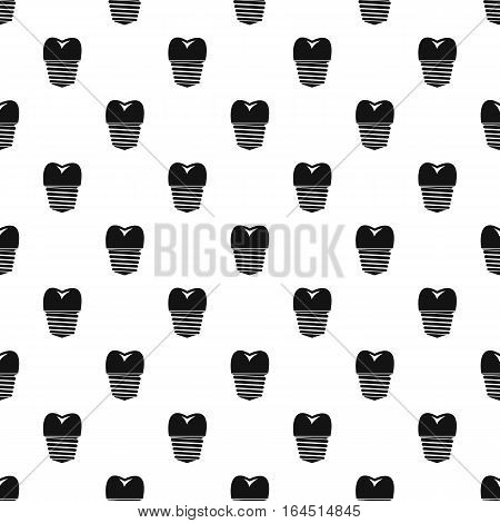 Screw tooth implant pattern. Simple illustration of screw tooth implant vector pattern for web