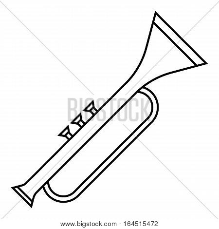 Trumpet icon. Outline illustration of trumpet vector icon for web