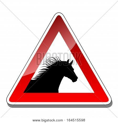An illustration of a traffic warning sign on a white background.