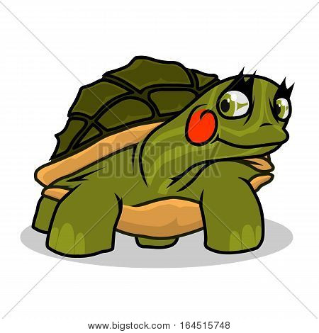 turtle, underwater, wildlife, animal, green, life, white, drawing, illustration, wild, nature, happy, close up, mascot, green turtle
