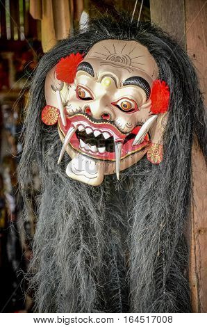The mask of god for dancing or art performance culture of Bali Indonesia