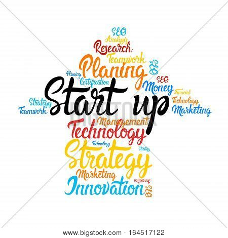 Startup Development Business Brainstorming Infographic Vector Illustration