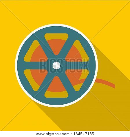 Reel icon. Flat illustration of reel vector icon for web