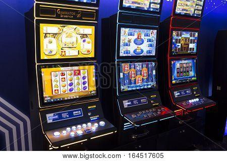 Slot Machine In A Casino