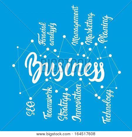 Management Development Business Brainstorming Infographic Vector Illustration