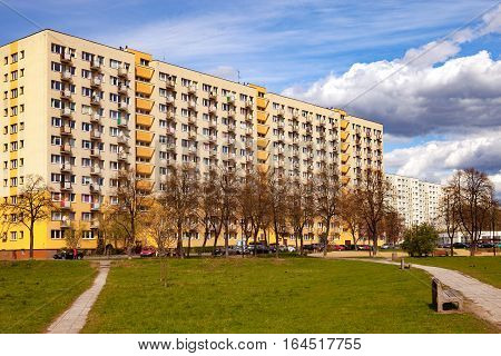 Typical style of architecture in the era socialist.