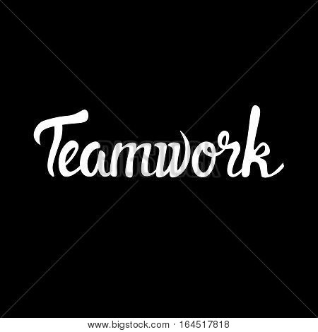 Teamwork Business Cooperation Management Infographic Vector Illustration