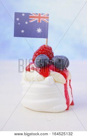 Australian Mini Pavlovas And Flags