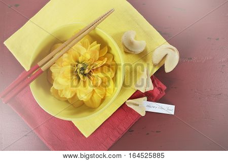 Happy Chinese New Year Celebration Party Table