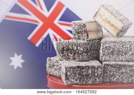 Traditional Australian Lamington Cakes