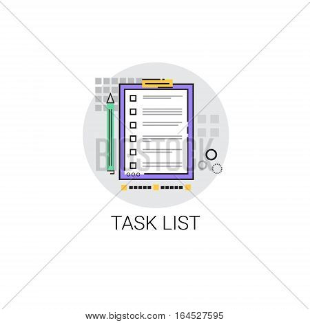 Task Check List Paper Document Icon Vector Illustration