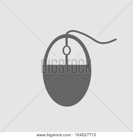 Computer mouse icon on blue background. Computer mouse symbol. Vector illustration EPS 10.