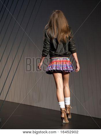 MELBOURNE, AUSTRALIA - MARCH 18: A model showcases designs by Arabella Ramsay in the 2010 L'Oreal Melbourne Fashion Festival at Central Pier, Docklands on March 18, 2010 in Melbourne, Australia