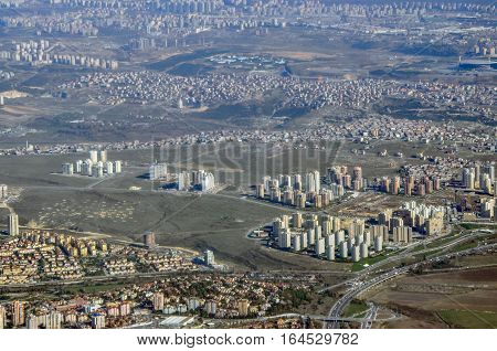 Aerial view of the Istambul city Turkey
