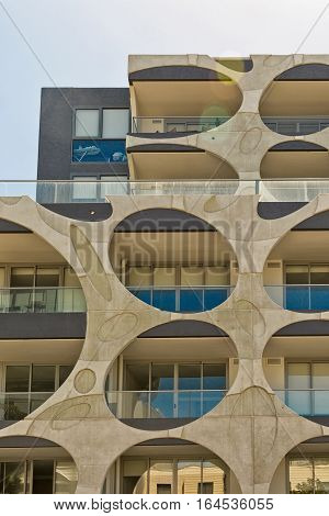 Melbourne Australia - February 2015: Contemporary Residential Complex in Melbourne's favourite beachside suburb St Kilda