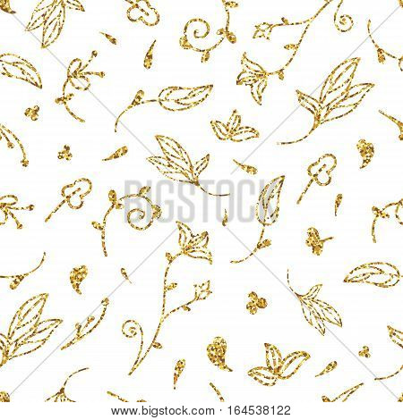 Golden Leaves Seamless Pattern-01.eps