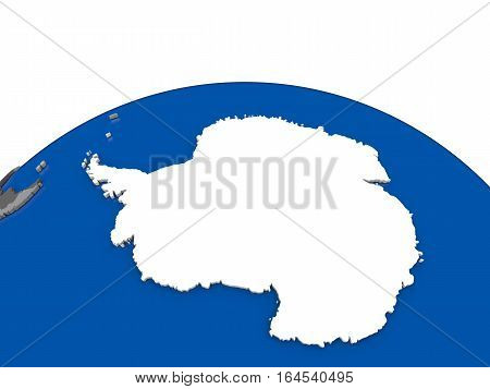 Antarctica On 3D Globe