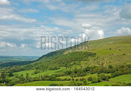 Brecon beacons mountains and valleys in the summertime.