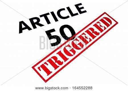 ARTICLE 50 title rubber stamped as TRIGGERED.