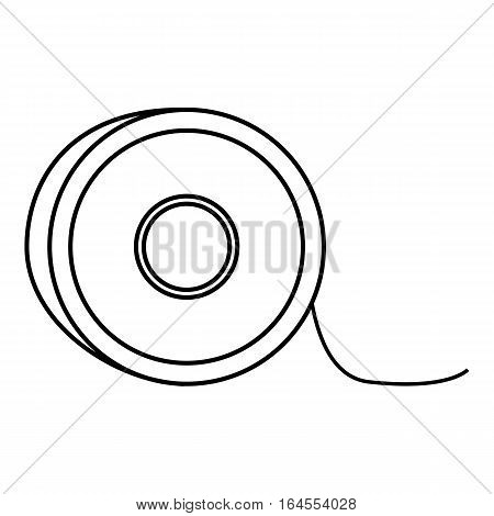 Fishing lines icon. Outline illustration of fishing lines vector icon for web