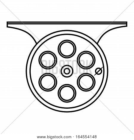 Spinning reel icon. Outline illustration of spinning reel vector icon for web