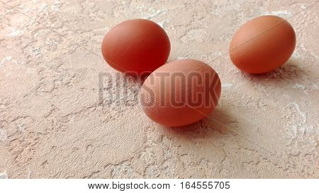 tree chicken eggs on spotted textured background