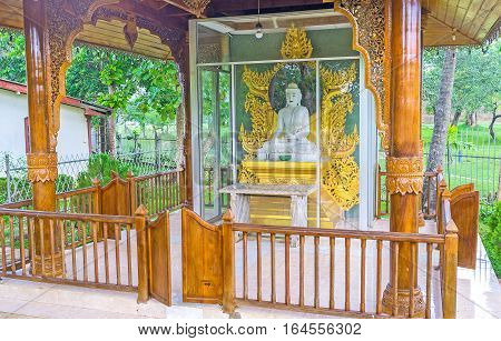 The Buddha Statue In Myanmar Temple