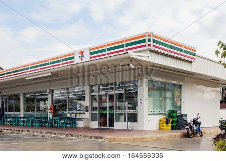 Nakhon Ratchasima THAILAND - Dec 23 2016 : 7-Eleven convenience store with largest number of outlets in Thailand.