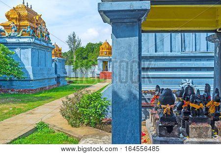 The Garden With Hindu Shrines