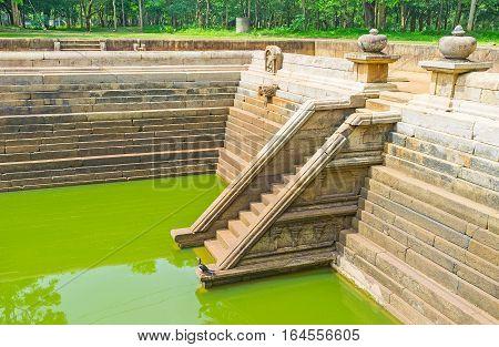 The Ancient Pools In Sri Lanka