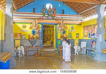 In Hindu Temple