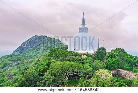 Stupa Among The Greenery