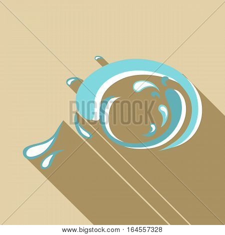 Big wave icon. Flat illustration of big wave vector icon for web
