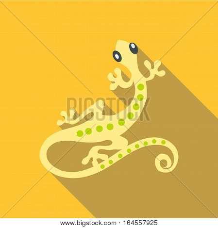 Small gecko icon. Flat illustration of small gecko vector icon for web