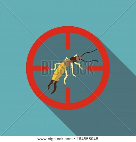 Poisonous bug icon. Flat illustration of poisonous bug vector icon for web