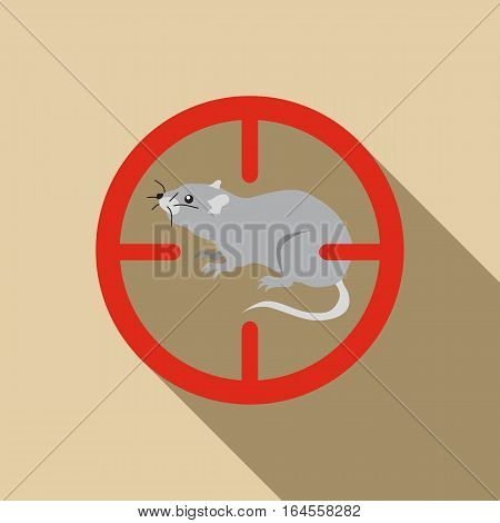 Rat icon. Flat illustration of rat vector icon for web