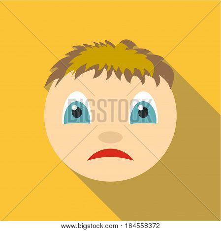 Melancholy icon. Flat illustration of melancholy vector icon for web