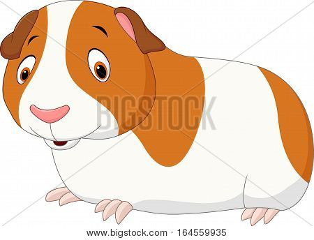 Vector illustration of Cartoon funny hamster isolated on white background